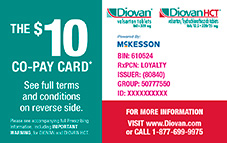 Diovan savings card