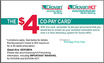 Copay Card Front Side